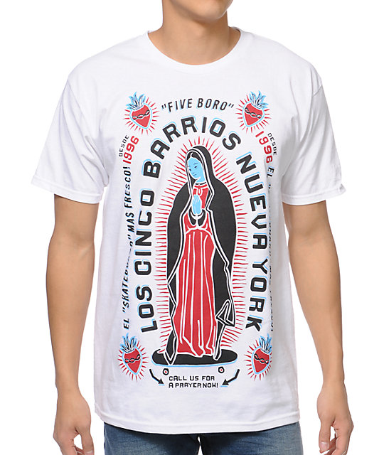 5BORO Cinco Borrios White T-Shirt