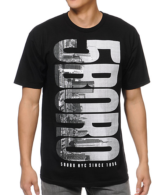 5BORO Skyline Logo Black T-Shirt