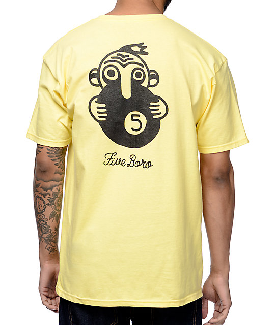 5Boro 5Ball Yellow T-Shirt