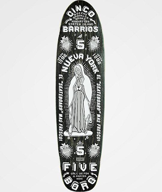 """5Boro Cinco Barrios 7.6"""" Cruiser Skateboard Deck"""