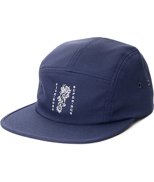 5Boro Dragon Five Panel Camp Navy Hat