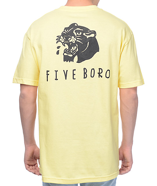 5Boro Panther Banana Yellow T-Shirt