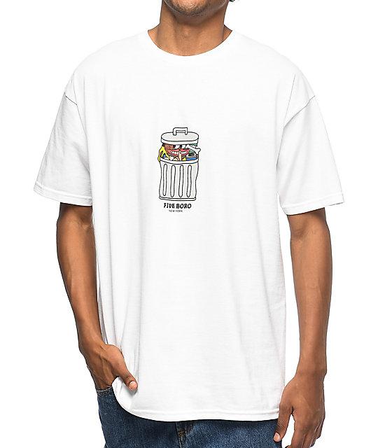5Boro Trash White T-Shirt