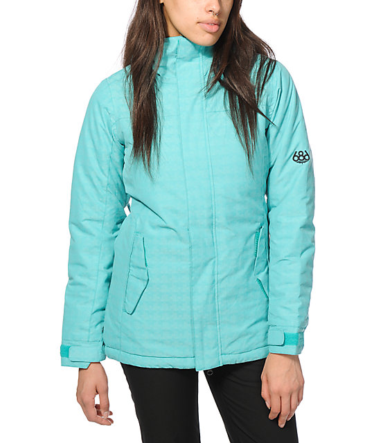 686 Authentic Paradise Blue 10K Snowboard Jacket