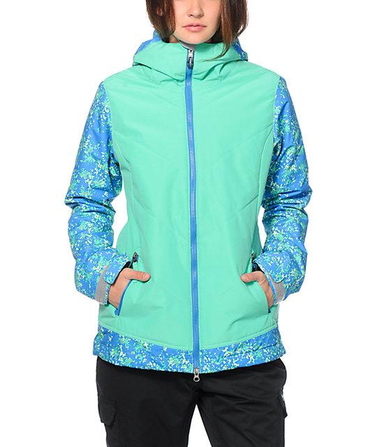 686 Authentic Rhythm Blue Floral Camo 10K Snowboard Jacket