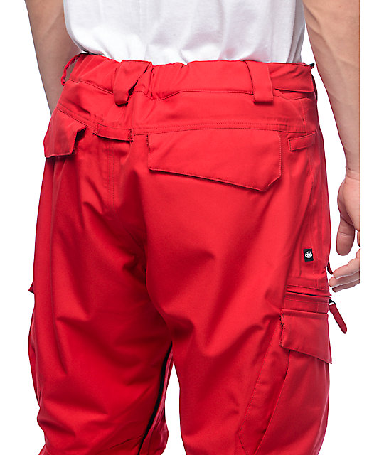 686 Authentic Smarty 15K Red Cargo Snowboard Pants