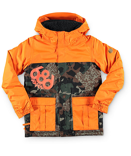 686 Boys Elevate Army Cubist Camo 8K Snowboard Jacket