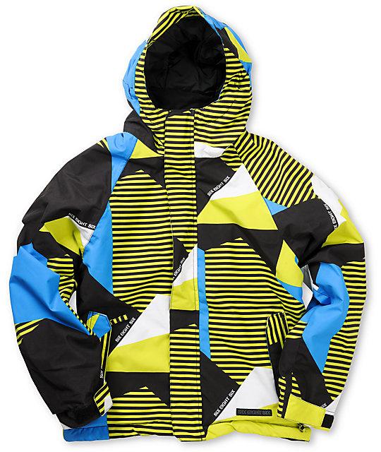 686 Boys Mannual Mix 5K Insulated Acid Snowboard Jacket