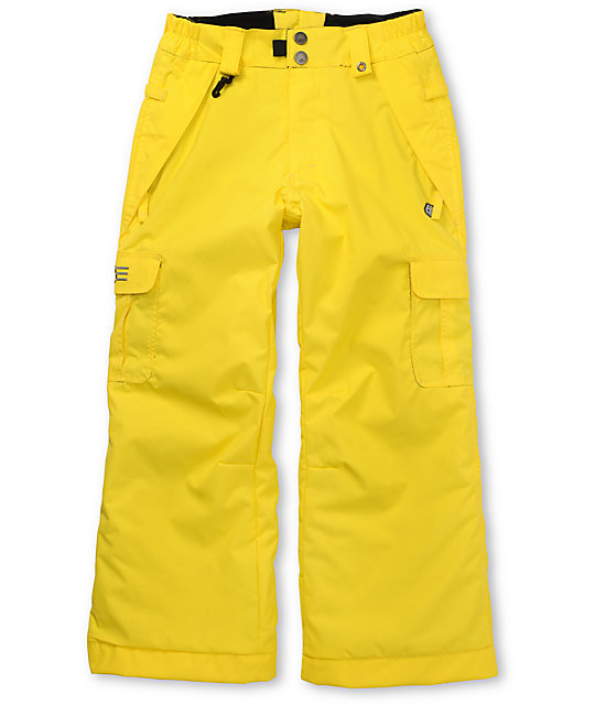 686 Boys Mannual Ridge Yellow Snowboard Pants