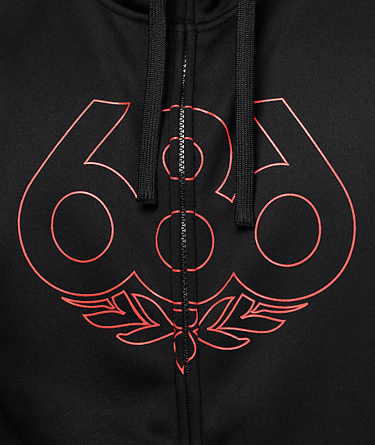 686 Icon Black Tech Fleece Jacket