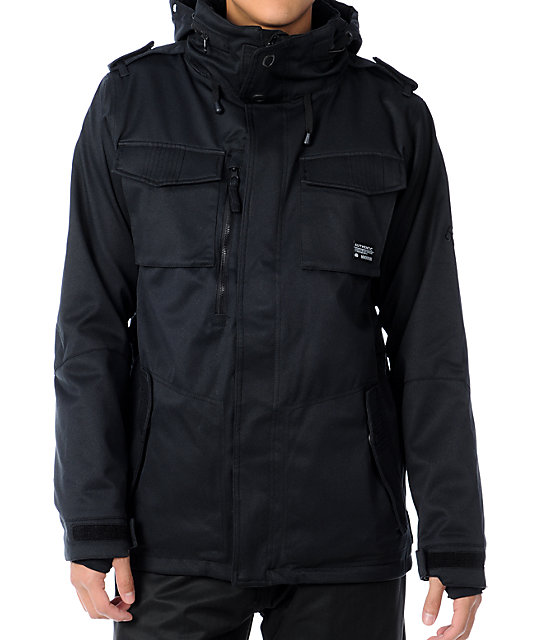 686 M-65 Black 10K Mens Snowboard Jacket