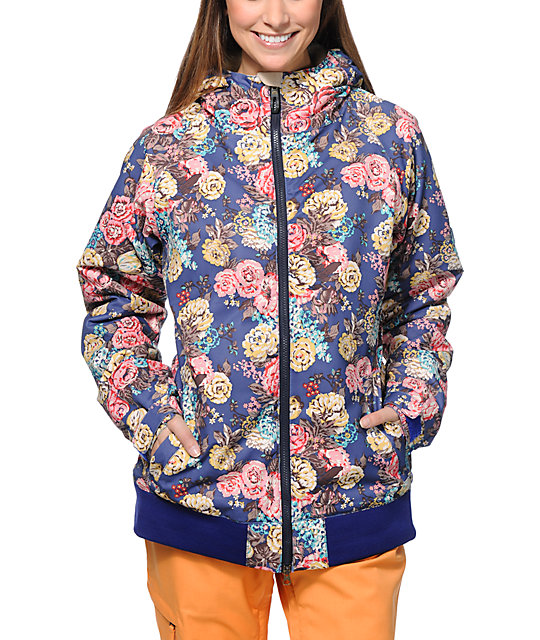 686 Mannual Cheer Iris Floral 8K Snowboard Jacket