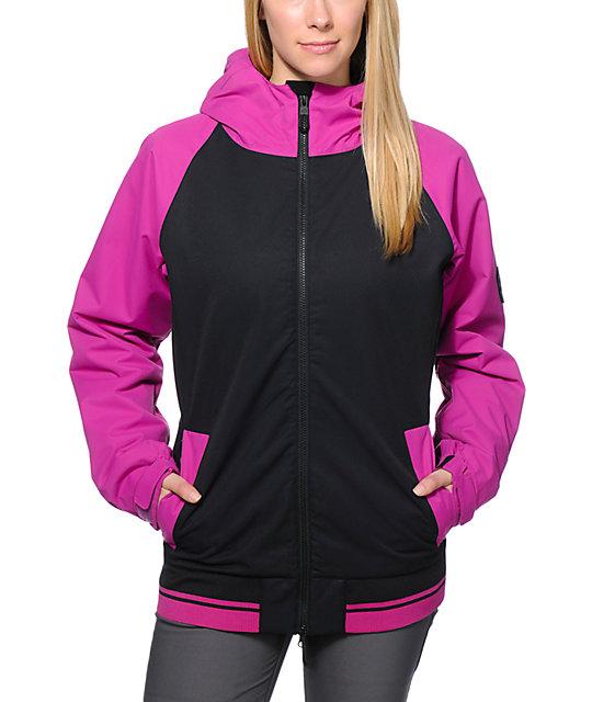 686 Mannual Cheer Pink & Black 8K Snowboard Jacket