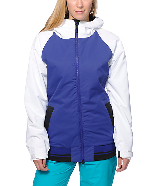 686 Mannual Cheer Purple & White 8K Snowboard Jacket