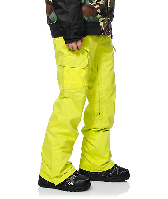 686 Mannual Data Acid Green 8K Snowboard Pants