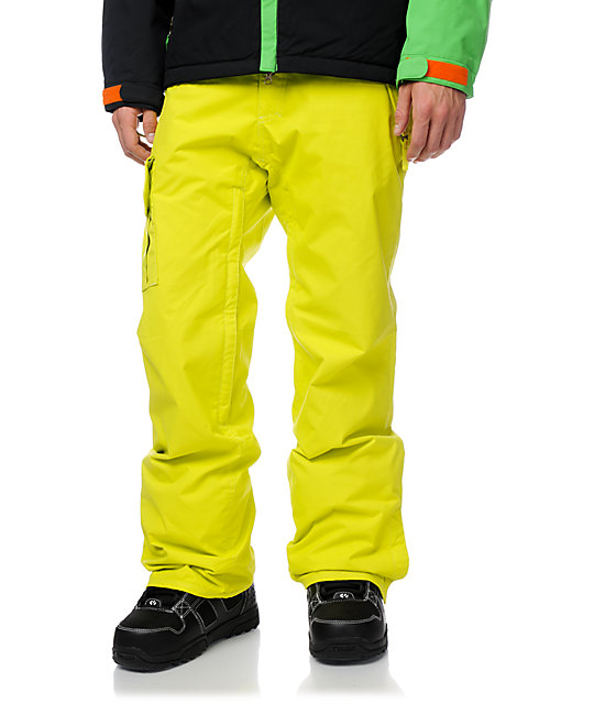686 Mannual Data Acid Yellow 8K Snowboard Pants