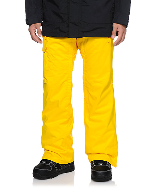 686 Mannual Data Yellow 8K Snowboard Pants