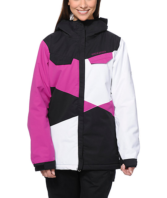 686 Mannual Harlow Pink, Black, & White 8K Snow Jacket