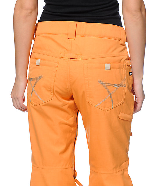 686 Mannual Patron Orange 10K Snowboard Pants