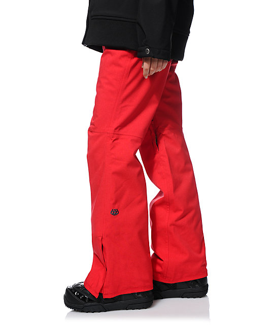 686 Mannual Patron Red 10K Snowboard Pants