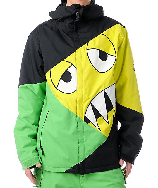 686 Snaggleface 8K Grass Green Snowboard Jacket