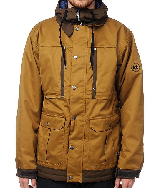 686 Times Dickies Industrial Duck Brown 15K Snowboard Jacket