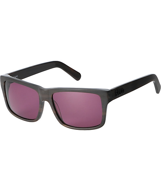 9Five Caps Matte Wood Grain Sunglasses