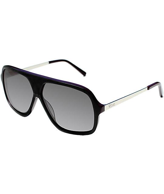 9Five Crowns Stevie Williams Matte Black & Plum Sunglasses