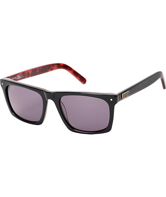 9Five Watson Black & Red Tortoise Sunglasses