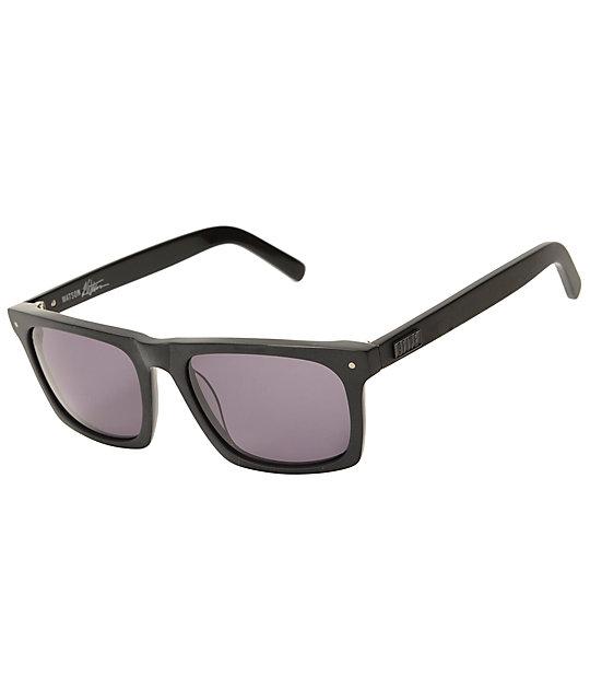 9Five Watson Matte Blackout Sunglasses