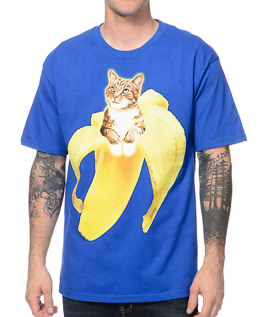 A-Lab Banazaz Cat Blue T-Shirt