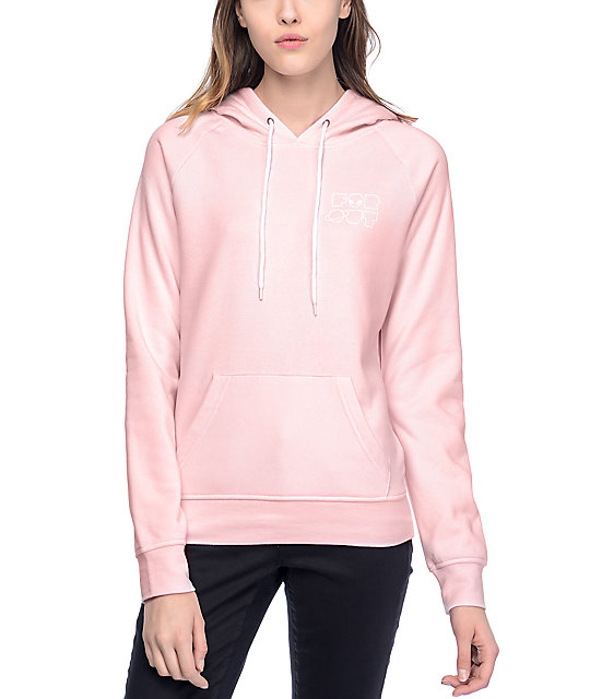 A-Lab Brealynna Far Out Alien Pink Womens Hoodie