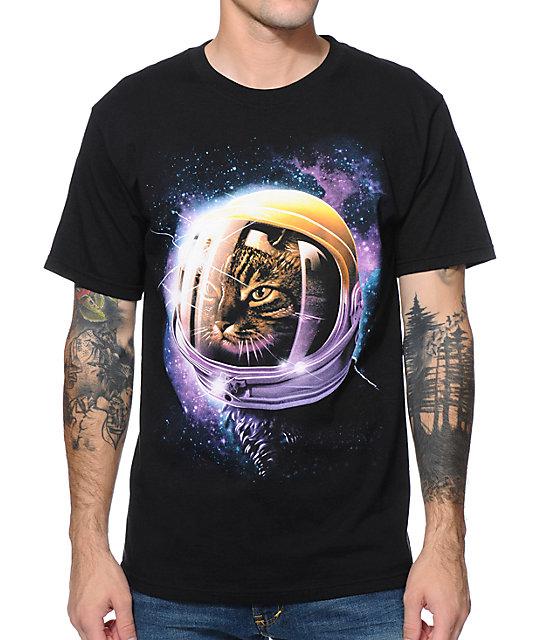 A-Lab Cat Galaxy Black T-Shirt