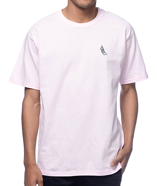 A-Lab Cellie Embroidered Pink T-Shirt | Zumiez