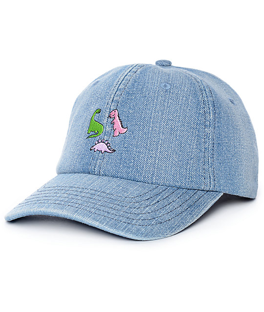A-Lab Dino Denim Strapback Baseball Hat