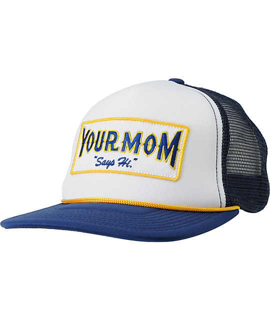 A-Lab Hi Mom Navy & White Trucker Hat
