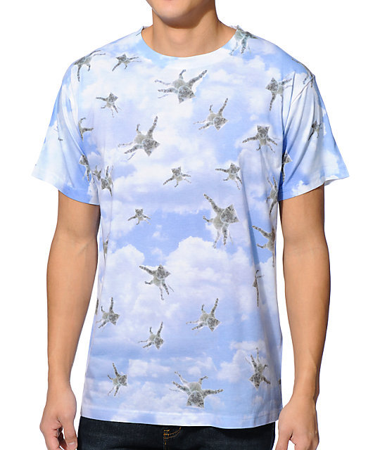 A-Lab Its Raining Cats Sublimated White T-Shirt