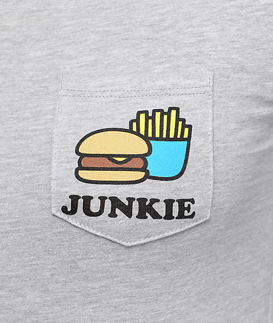 A-Lab Junkie Pocket Grey T-Shirt