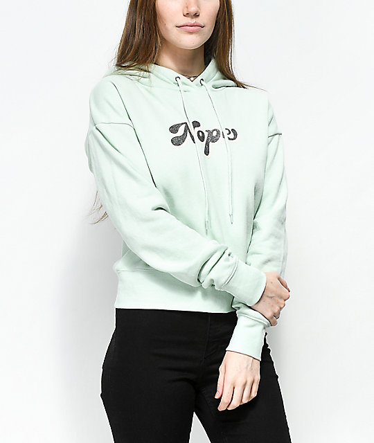 A-Lab Lucia Nope Glitter Mint Hoodie