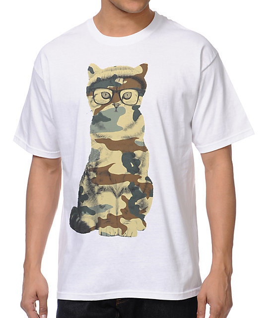 A-Lab Mash Cat White T-Shirt