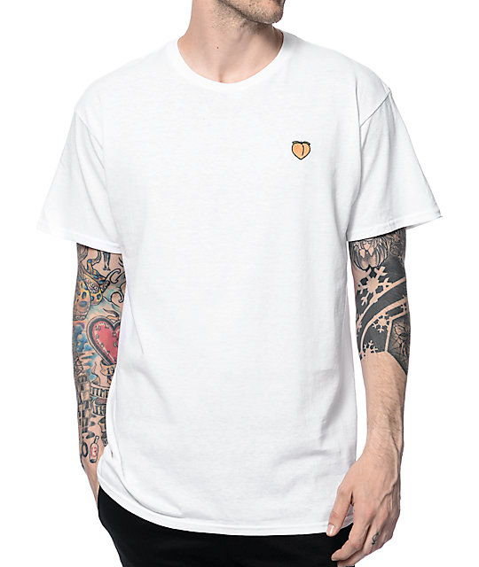 Lab Peach Embroidery White T-Shirt