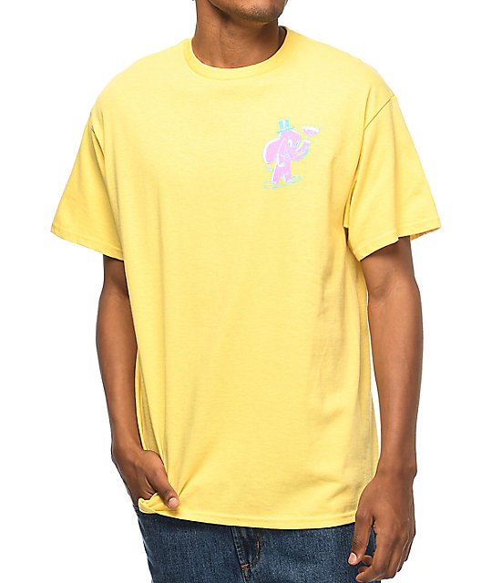 A-Lab Pink Elephant Yellow T-Shirt