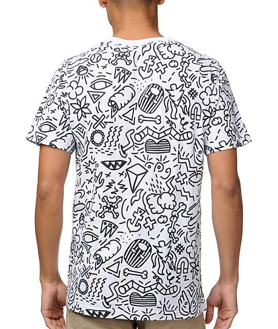 A-Lab Scribble White T-Shirt