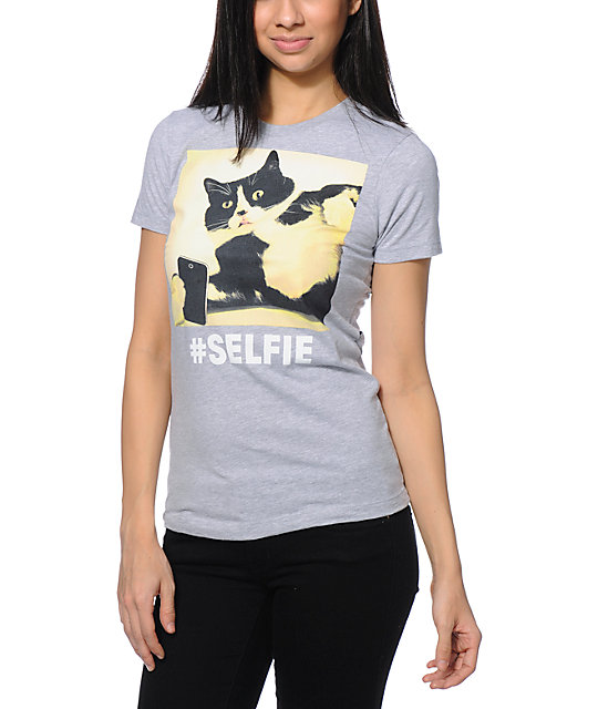 A-Lab Selfie Grey Boyfriend T-Shirt