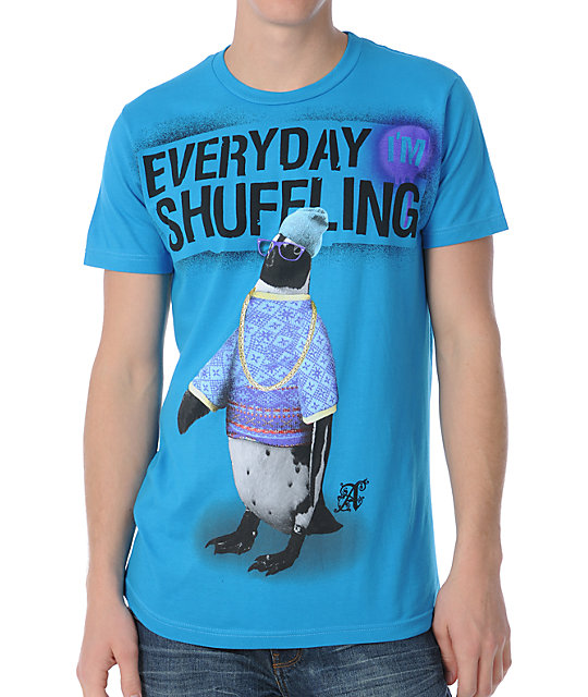 A-Lab Shuffle Penguin Turquoise T-Shirt