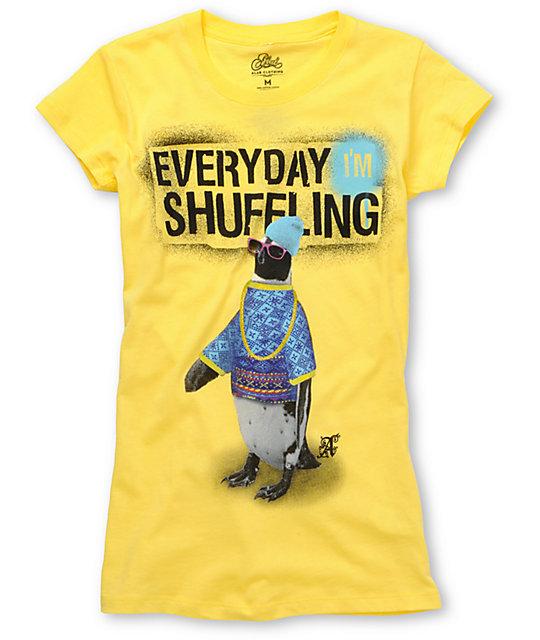 A-Lab Shuffle Yellow Crew Neck T-Shirt