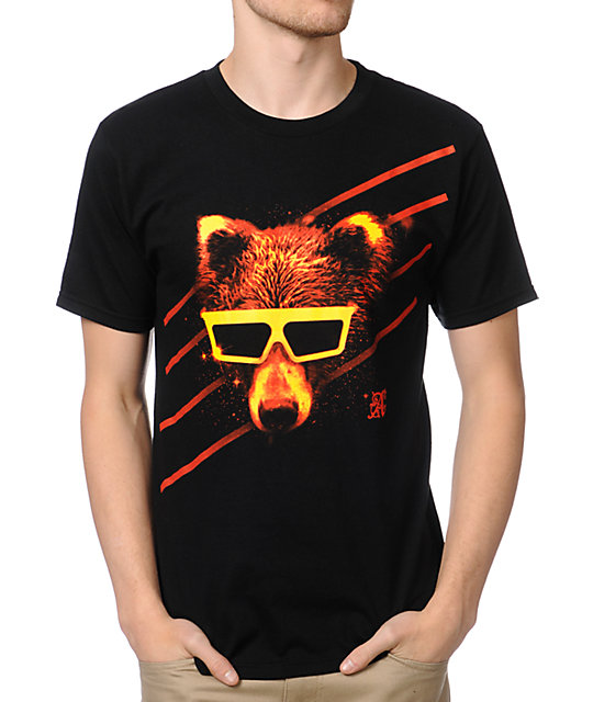 A-Lab Space Bear Black T-Shirt