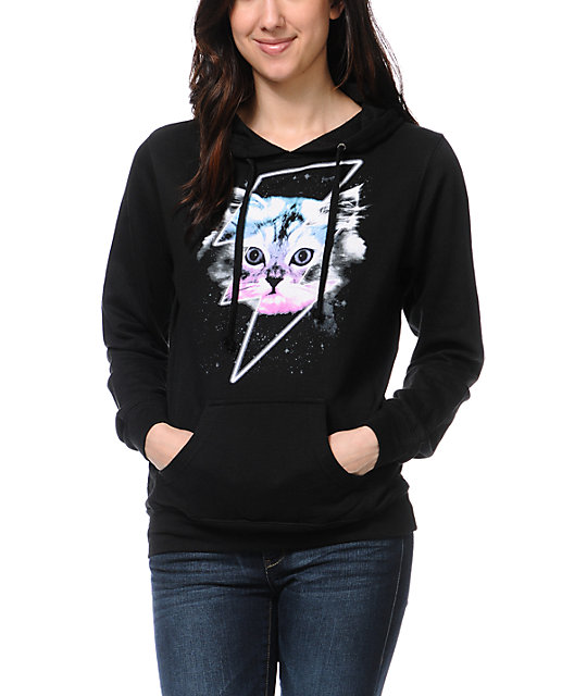 A-Lab Thunder Cat Black Pullover Hoodie