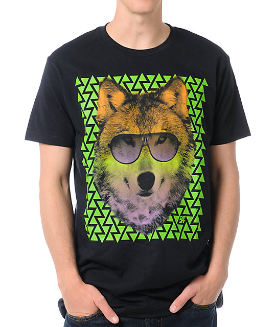 A-Lab Tri Wolf Black T-Shirt