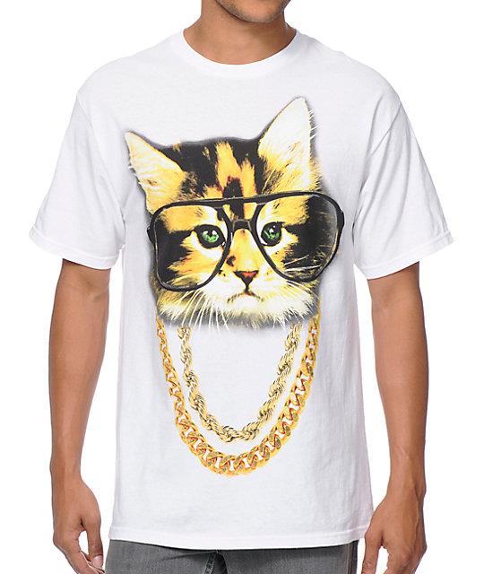 A-Lab Two Meowz White T-Shirt